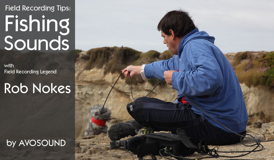 Field Recording - Field Recordist Rob Nokes prepares a microphone to record wave sounds