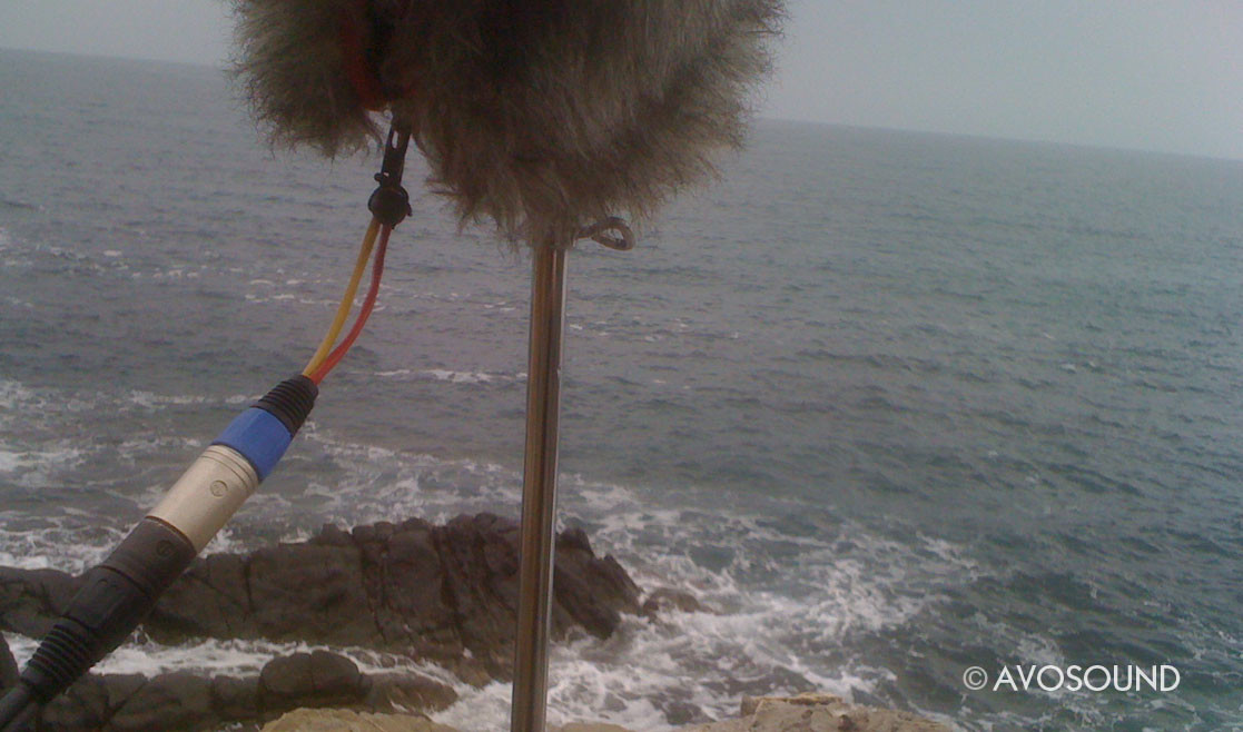 Sound recording of cliffs and ocean sounds