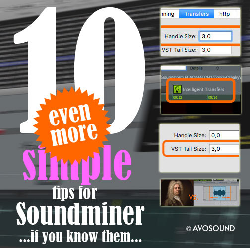10 even more simple tips and tricks for the Soundminer software - if you know them - by Avosound