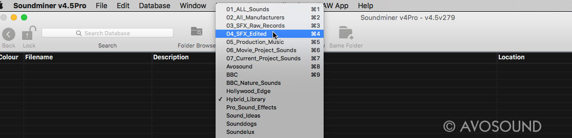 Soundminer Database - A clear database structure helps to find your way in your archive