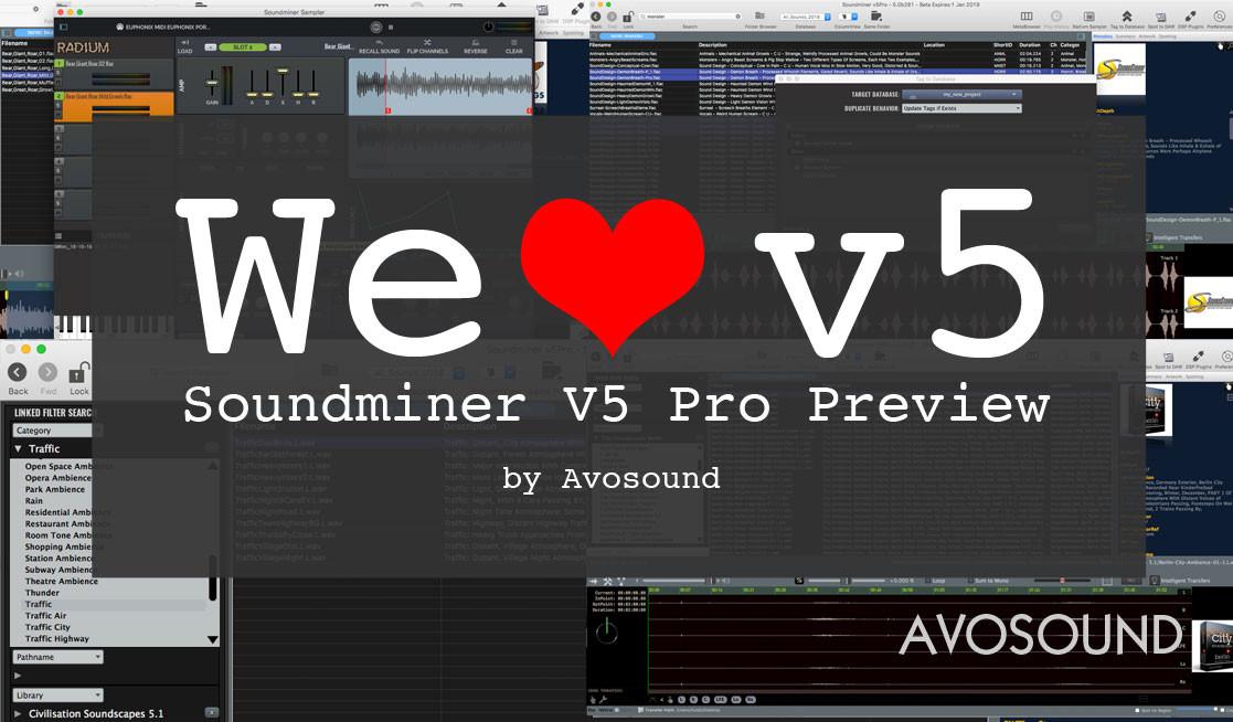 Soundminer V5 Pro Vorschau über die neuen Funktionen von Soundminer von Avosound