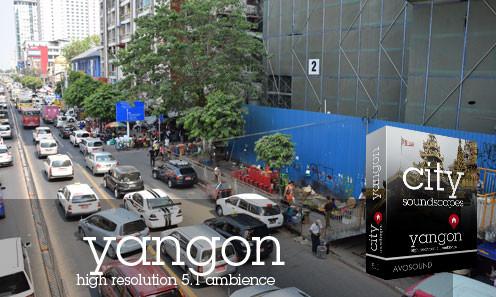 Städte Atmosphären Yangon - Strassen in Yangon