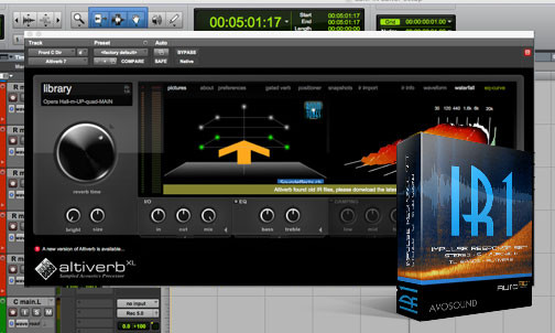 IR1 Impulse Response Set With Altiverb