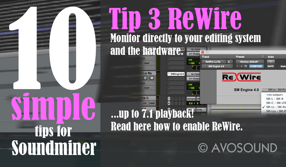 10 simple Tips für Soundminer - Tip 3 ReWire Audio Playback