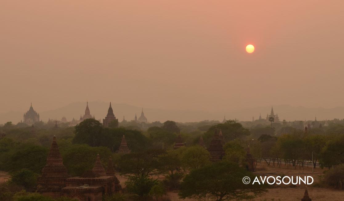 Evening atmosphere in Bagan -- unforgettable
