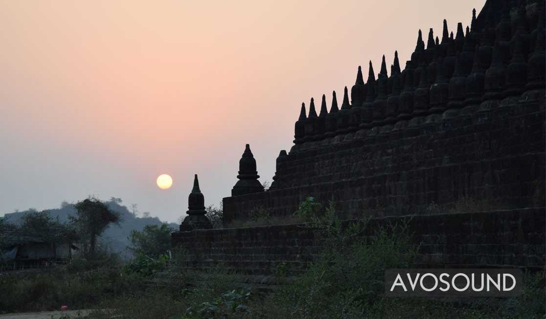 Myanmar - temples in Mrauk U look very different from other temples in Myanmar