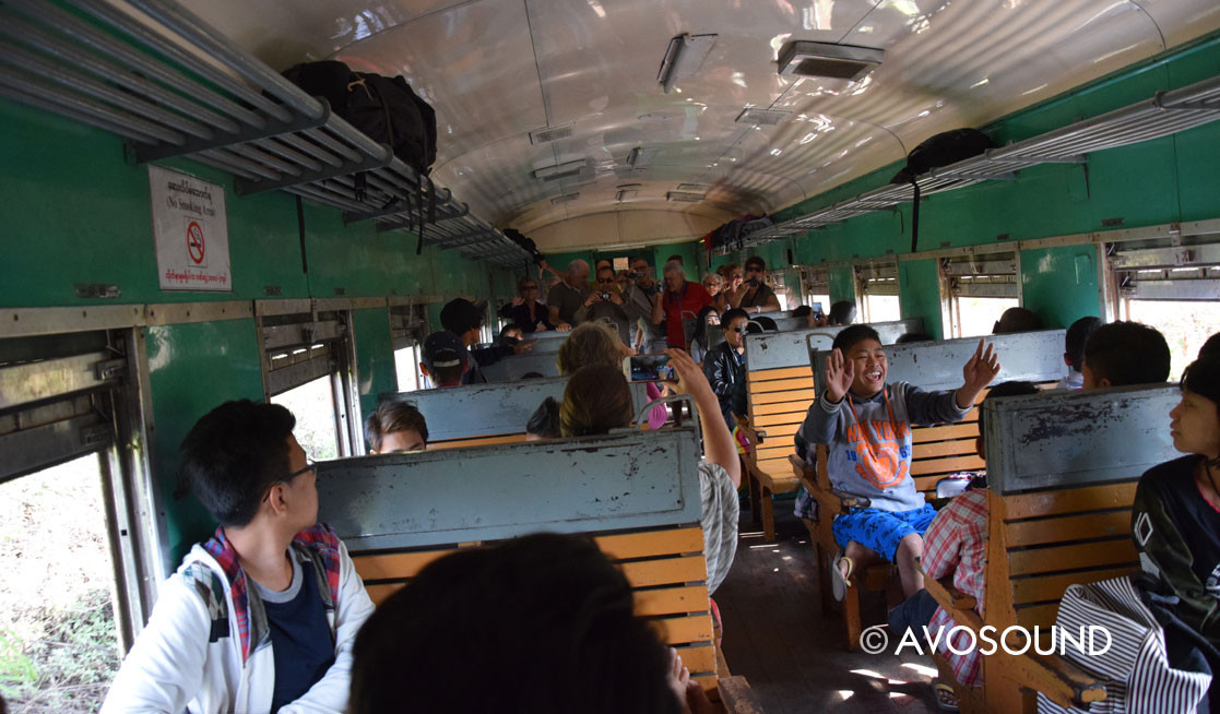 On the train from Pyin U Lwin via the Goteik viaduct to Hsipaw