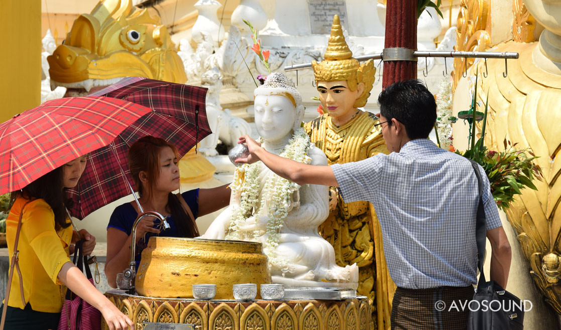 Weekday Well in the Shwedagon Pagoda