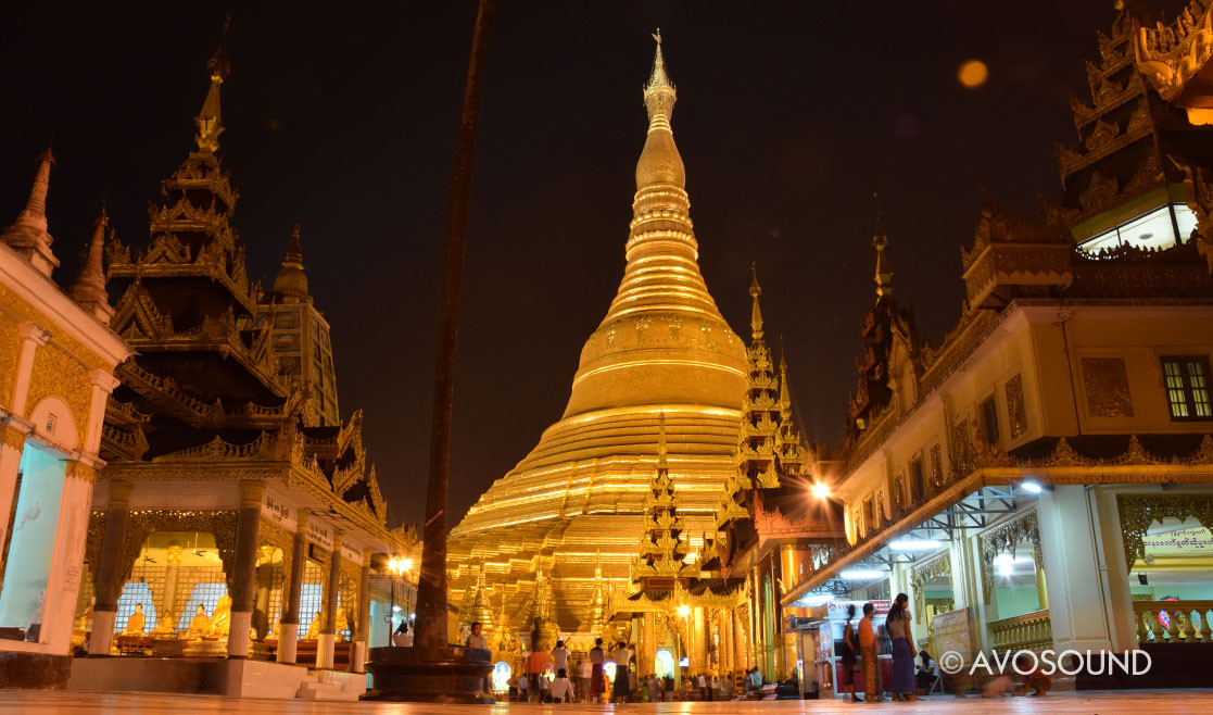 Myanmar Travel Log Evening Atmosphere at the Shwedagon Pagoda