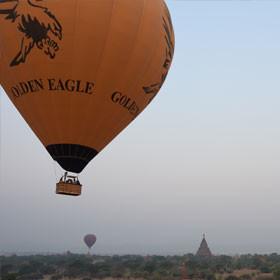 Travel Log Myanmar In a Hot Air Balloon over Bagan
