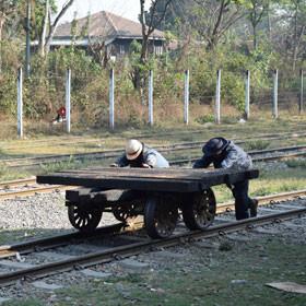 Myanmar Travel Log On the train in Burma