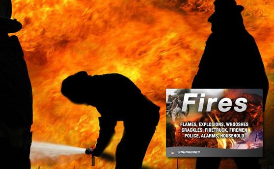 Feuer Löschen - Tonaufnahmen von Feuerwehr und Löschwerkzeug
