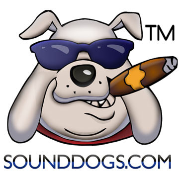Sounddogs Sound Effects Label Logo