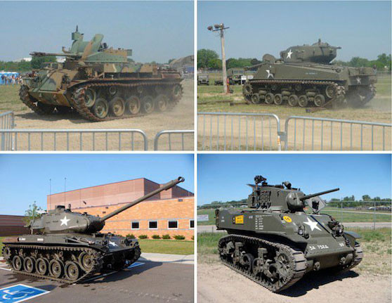 Comprehensive sound recordings of tanks and armoured vehicles.