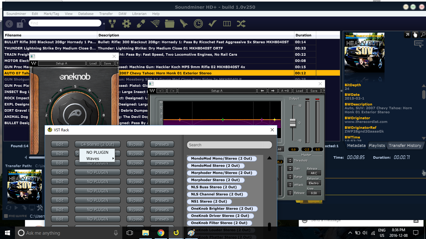 Soundminer HD Plus Pro Pack supports now VST Plugins