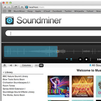 Soundminer Webinterface Musicminer Surface