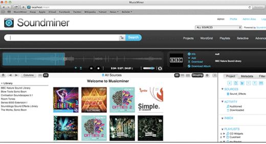 MusicMiner Benutzeroberfläche