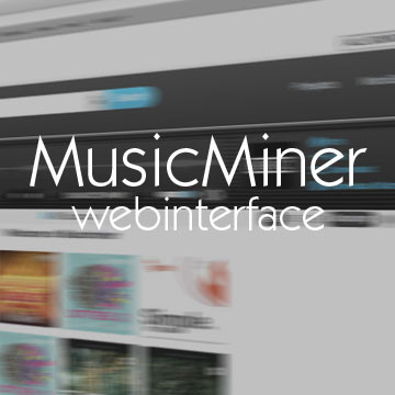 Musicminer Web Portal Product Image