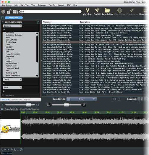 Soundminer PLUS User Interface