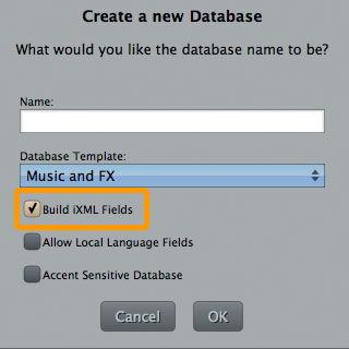 Create Soundminer Database with iXML Fields