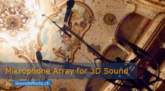 Microphone array for recording 3D impulse responses
